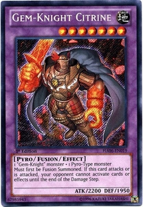YuGiOh ZEXAL Hidden Arsenal 6: Omega XYZ Single Card Secret Rare HA06-EN019 Gem-Knight Citrine