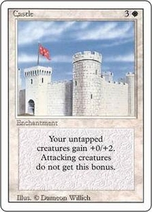Magic the Gathering Revised Edition Single Card Uncommon Castle Played Condition Not Mint