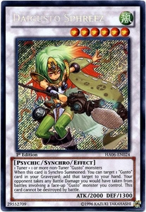 YuGiOh ZEXAL Hidden Arsenal 6: Omega XYZ Single Card Secret Rare HA06-EN024 Daigusto Sphreez