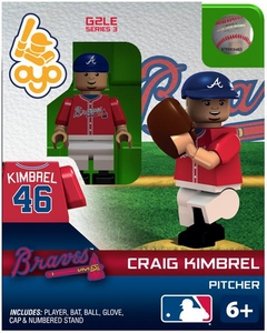OYO Baseball MLB Generation 2 Building Brick Minifigure  Craig Kimbrel [Atlanta Braves]