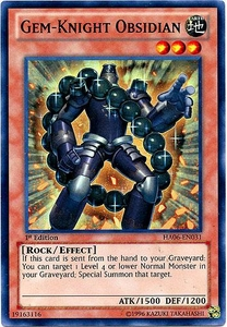 YuGiOh ZEXAL Hidden Arsenal 6: Omega XYZ Single Card Super Rare HA06-EN031 Gem-Knight Obsidian