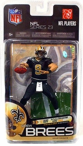 McFarlane Toys NFL Sports Picks Series 23 Action Figure Drew Brees (New Orleans Saints) Black Pants Gold Collector Level Chase Only 500 Made!