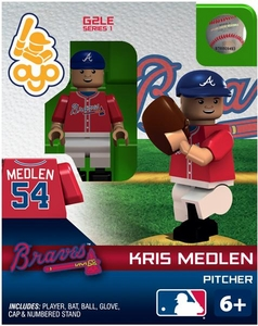OYO Baseball MLB Generation 2 Building Brick Minifigure  Kris Medlen [Atlanta Braves]