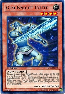YuGiOh ZEXAL Hidden Arsenal 6: Omega XYZ Single Card Super Rare HA06-EN032 Gem-Knight Iolite