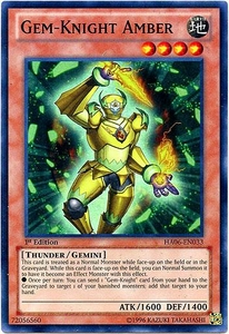 YuGiOh ZEXAL Hidden Arsenal 6: Omega XYZ Single Card Super Rare HA06-EN033 Gem-Knight Amber