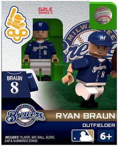 OYO Baseball MLB Generation 2 Building Brick Minifigure Ryan Braun [Milwaukee Brewers]