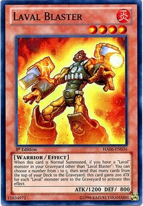 YuGiOh ZEXAL Hidden Arsenal 6: Omega XYZ Single Card Super Rare HA06-EN036 Laval Blaster