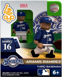 OYO Baseball MLB Generation 2 Building Brick Minifigure Aramis Ramirez [Milwaukee Brewers]