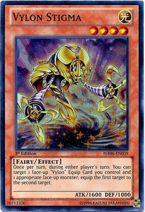 YuGiOh ZEXAL Hidden Arsenal 6: Omega XYZ Single Card Super Rare HA06-EN039 Vylon Stigma