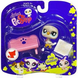 Littlest Pet Shop 2009 Assortment 'A' Series 2 Collectible Figure Pigeon & Bench