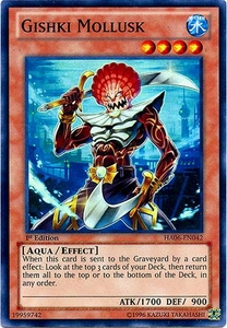 YuGiOh ZEXAL Hidden Arsenal 6: Omega XYZ Single Card Super Rare HA06-EN042 Gishki Mollusk