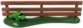 Playmobil LOOSE Accessory Brown Fence with Small Plant