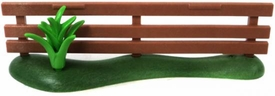 Playmobil LOOSE Accessory Brown Fence with Tall Plant
