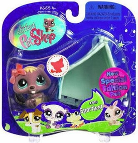 Littlest Pet Shop 2009 Assortment 'A' Series 2 Collectible Figure Beaver & Hollow Tree [Special Edition Pet!]