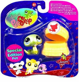 Littlest Pet Shop 2009 Assortment 'A' Series 3 Collectible Figure Snake with Basket [Special Edition Pet!]