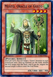 YuGiOh ZEXAL Hidden Arsenal 6: Omega XYZ Single Card Super Rare HA06-EN045 Musto Oracle of Gusto