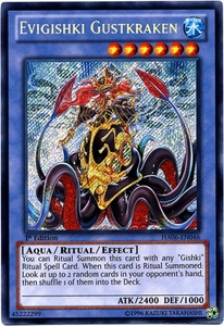 YuGiOh ZEXAL Hidden Arsenal 6: Omega XYZ Single Card Secret Rare HA06-EN046 Evigishki Gustkraken