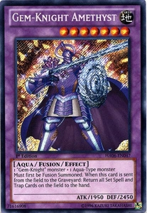 YuGiOh ZEXAL Hidden Arsenal 6: Omega XYZ Single Card Secret Rare HA06-EN047 Gem-Knight Amethyst