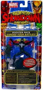 Marvel Heroes Super Hero Showdown Booster Pack with Super Poseable Action Figure Black Costume Spider-Man