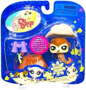 Littlest Pet Shop 2009 Assortment 'A' Series 2 Collectible Figure Meerkat with Tree Trunk [Special Edition Pet!]