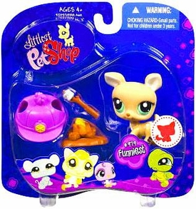 Littlest Pet Shop 2009 Assortment 'A' Series 4 Collectible Figure Deer with Campfire & Marshmallow