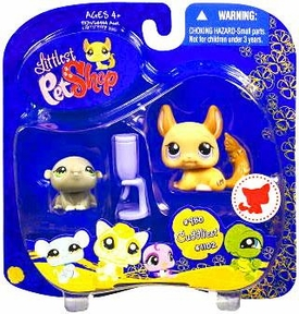 Littlest Pet Shop 2009 Assortment 'A' Series 4 Collectible Figure Hamsters with Water Bottle