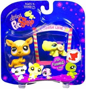 Littlest Pet Shop 2009 Assortment 'A' Series 4 Collectible Figure Kangaroo & Turtle with Finish Line