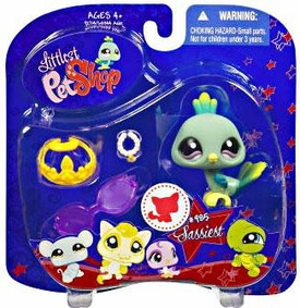 Littlest Pet Shop 2009 Assortment 'A' Series 4 Collectible Figure Peacock with Sunglasses