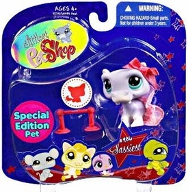 Littlest Pet Shop 2009 Assortment 'A' Series 4 Collectible Figure Hippo [Special Edition Pet!]