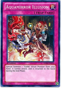 YuGiOh ZEXAL Hidden Arsenal 6: Omega XYZ Single Card Super Rare HA06-EN059 Aquamirror Illusion