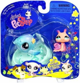 Littlest Pet Shop 2009 Assortment 'B' Series 1 Collectible Figure Snail & Whale