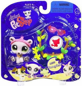 Littlest Pet Shop 2009 Assortment 'B' Series 2 Collectible Figure Bear with Leaf Chair