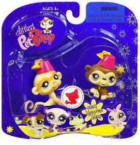 Littlest Pet Shop 2009 Assortment 'B' Series 2 Collectible Figure Chimp & Monkey