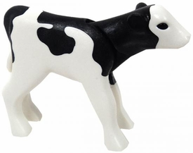 Playmobil LOOSE Animal Black & White Calf