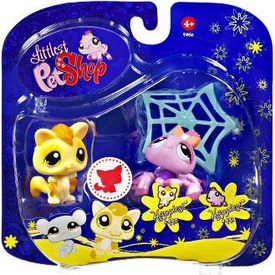 Littlest Pet Shop 2009 Assortment 'B' Series 3 Collectible Figure Sugar Glider & Spider