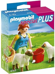 Playmobil Special Plus Set #4765 Country Woman & Sheep Feed