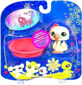 Littlest Pet Shop 2009 Assortment 'B' Series 3 Collectible Figure Swan [Special Edition Pet!]