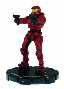 Halo 3 Wizkids CMG Miniature Game ActionClix Single Figure 001 Common Spartan Dual M6C Magnum Pistols [Red]