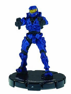 Halo 3 Wizkids CMG Miniature Game ActionClix Single Figure 002 Common Spartan Dual M6C Magnum Pistols [Blue]