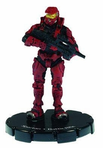 Halo 3 Wizkids CMG Miniature Game ActionClix Single Figure 003 Common Spartan BR55 Battle Rifle [Red]