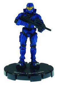 Halo 3 Wizkids CMG Miniature Game ActionClix Single Figure 004 Common Spartan BR55 Battle Rifle [Blue]