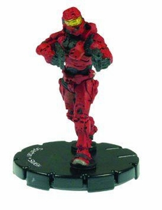 Halo 3 Wizkids CMG Miniature Game ActionClix Single Figure 005 Common Spartan Dual M7/Caseless SMG [Red]