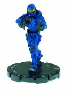 Halo 3 Wizkids CMG Miniature Game ActionClix Single Figure 006 Common Spartan Dual M7/Caseless SMG [Blue]
