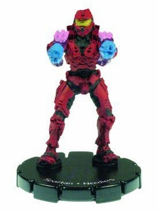 Halo 3 Wizkids CMG Miniature Game ActionClix Single Figure 007 Common Spartan Dual Needlers [Red]