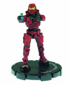 Halo 3 Wizkids CMG Miniature Game ActionClix Single Figure 009 Common Spartan Plasma Pistol & M7/Caseless SMG [Red]