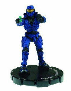 Halo 3 Wizkids CMG Miniature Game ActionClix Single Figure 010 Common Spartan Plasma Pistol & M7/Caseless SMG [Blue]