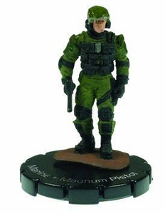 Halo 3 Wizkids CMG Miniature Game ActionClix Single Figure 013 Common Marine M6C Magnum Pistol