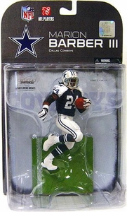 McFarlane Toys NFL Sports Picks Series 19 [2008 Wave 3] Exclusive Action Figure Marion Barber (Dallas Cowboys) Blue Jersey Variant