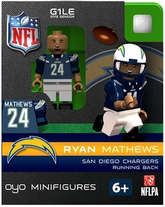 OYO Football NFL Building Brick Minifigure Ryan Mathews [San Diego Chargers]