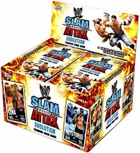 Topps WWE Slam Attax Wrestling Trading Card Game Evolution Series 1 Booster Box [24 Packs]